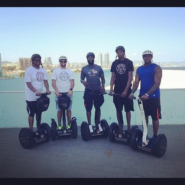 Kevin Durant, James Harden, And Deron Williams Are On A Segway Tour Across Europe