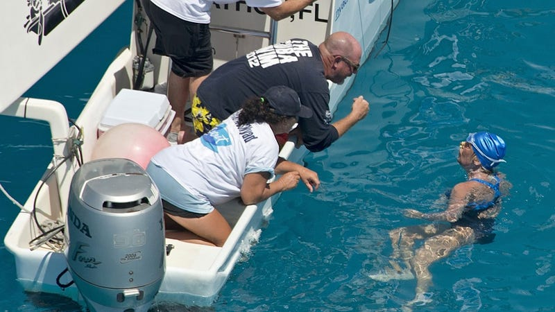 Diana Nyad Has Just Completed Her Record Swim from Cuba to Florida
