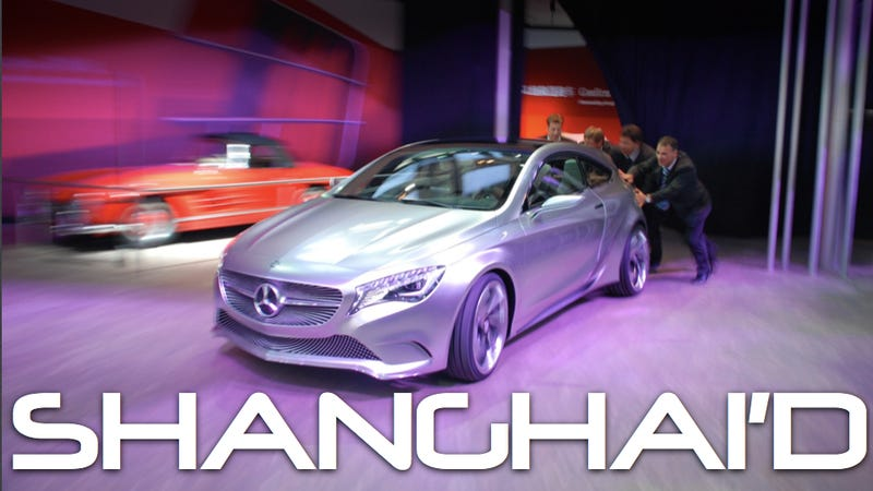 Mercedes concept car breaks down on stage