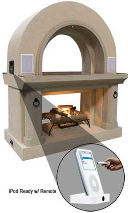 A Fireplace with an iPod Dock is the Last Straw