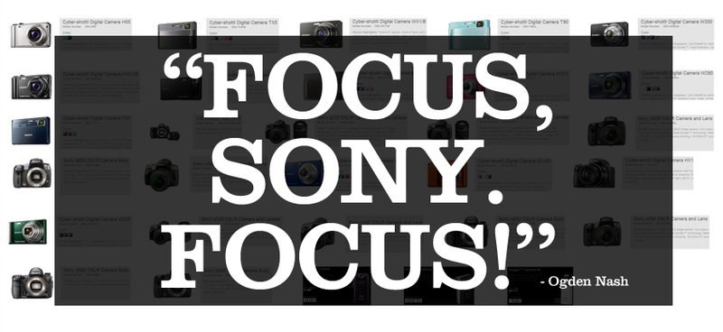 Infographic: Sony's Overwhelming Gadget Line-Up