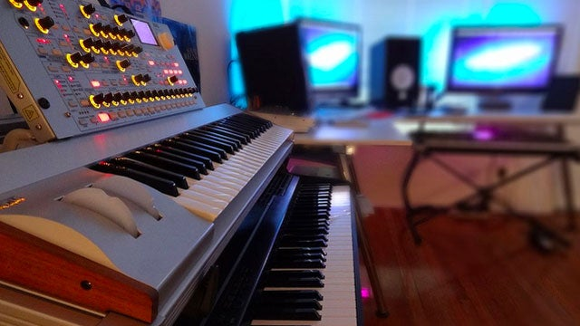 The Neon Music Studio Workspace