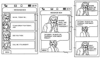 Samsung Patents Illustrated Mobile IMing