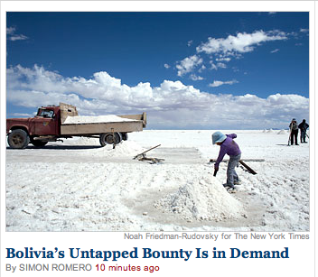 New York Times Continues Important Bolivian Powder Coverage