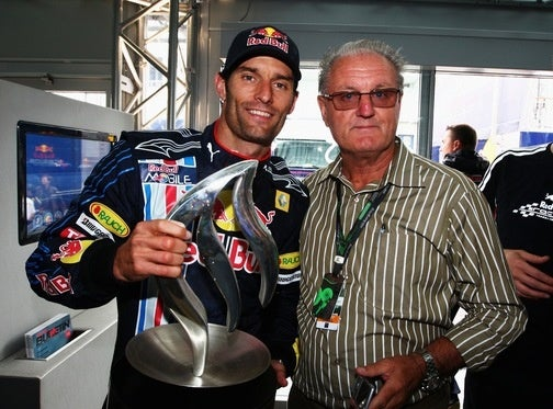 Mark Webber Celebrating His Maiden Formula One Victory