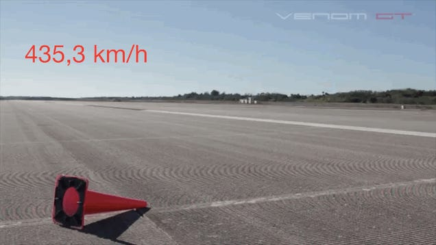 A Hennessey Venom GT a világ leggyorsabb autója
