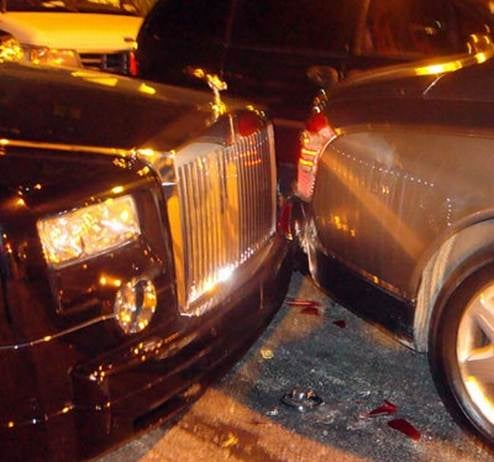 P. Diddy Involved In Very Expensive Fender Bender