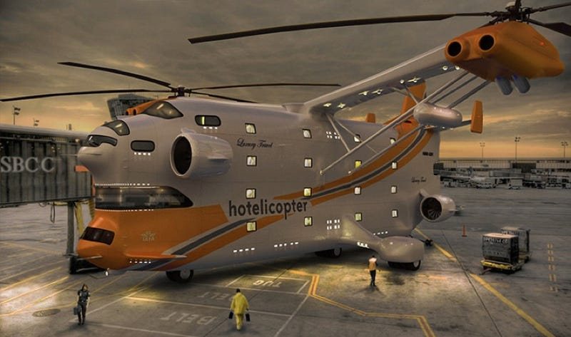 Stay At the Hotelicopter: The World's First Flying Hotel