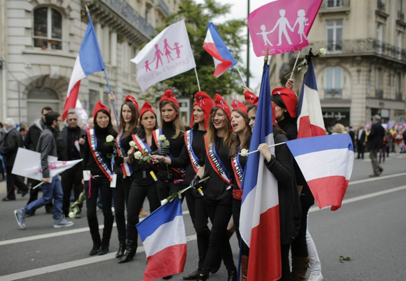 Tens of Thousands Protest Gay Marriage Legalization in Paris
