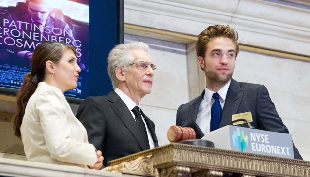 Robert Pattinson Rang the Opening Bell at the NYSE This Morning, Was Flawless While Doing So