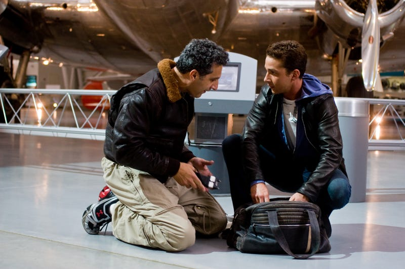 """LaBeouf And Bay Strategize On Where To Hang Their """"We Beat The Terminators"""" Trophy"""
