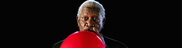 Hearing Morgan Freeman talk on helium is pretty damn hilarious