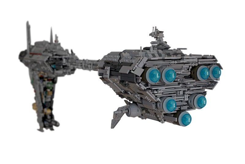 Star Wars Giant Medical Frigate In Lego Form