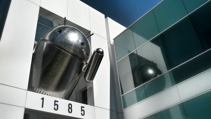 Google's Latest Android Statue Is Resplendent in Chrome