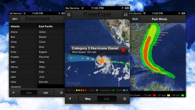 CaneCast Keeps Track of Hurricanes So You Don't Have To, Notifies You Of Changes