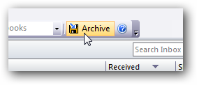Add a Gmail-Like Archive Button to Microsoft Outlook