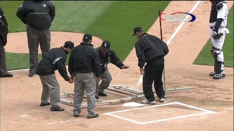 This Resizing Of The Batter's Box Sponsored By The Three Stooges