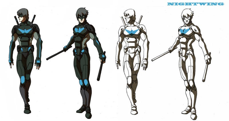 Artwork from scrapped Nightwing cartoon shows off DC heroes, Legend of Korra style