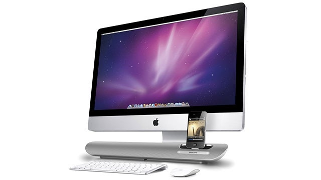 Aluminum Speaker Dock Looks Right At Home Under Your iMac