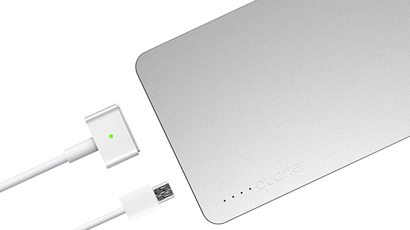 You Can Quickly Recharge This Backup Battery Using Your MacBook's Charger