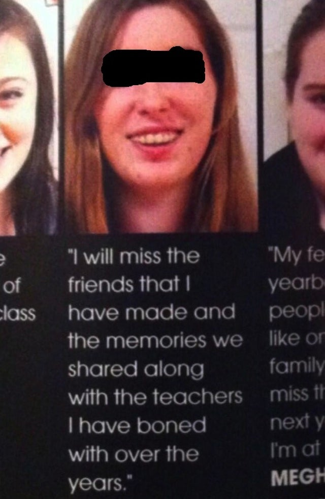 This Yearbook Typo Is Only Terrible If It's a Typo, Otherwise It's Worse