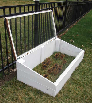Recycle an Old Window into a Mini Greenhouse