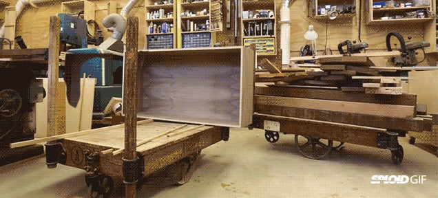 Magic bookcase makes itself in neat stop-motion video