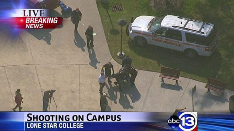 Lone Star College Locked Down after Three Wounded in Shooting
