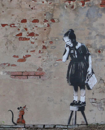 Banksy Won't Say if Works for Sale Are His
