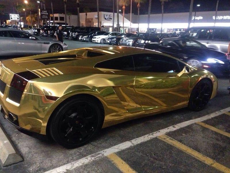 Gold Lambo in Houston