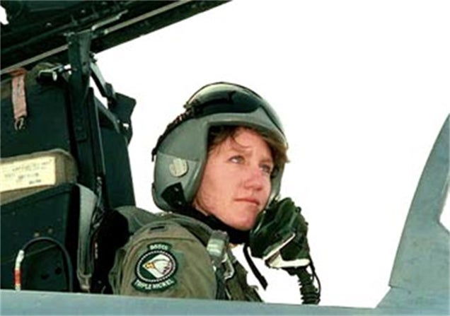 This was the last flight of the first female US Air Force fighter pilot