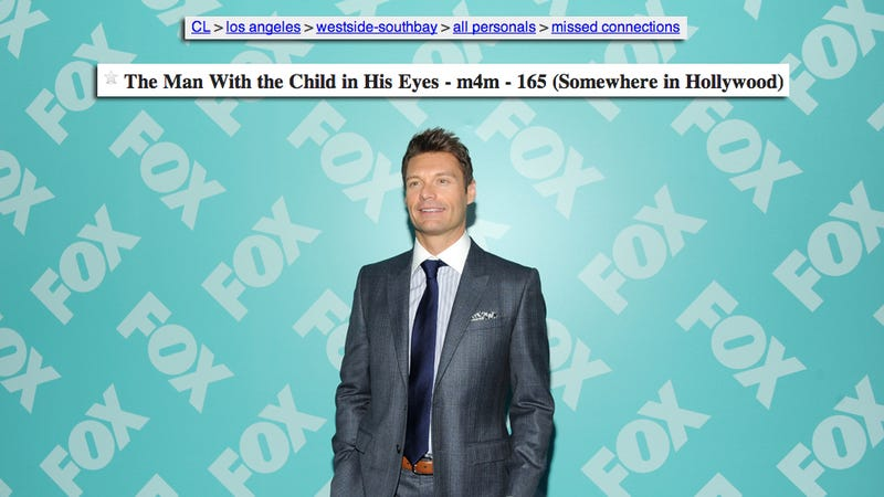 The Most Beautiful Gay Ryan Seacrest Craigslist Post You'll Read Today