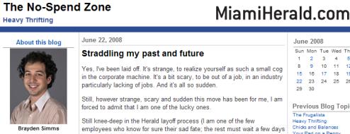 Journo Paid to Blog Own Layoff