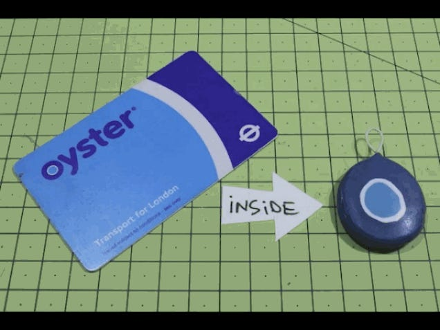 Turn Your RFID Train Pass or Travel Card Into a Keychain