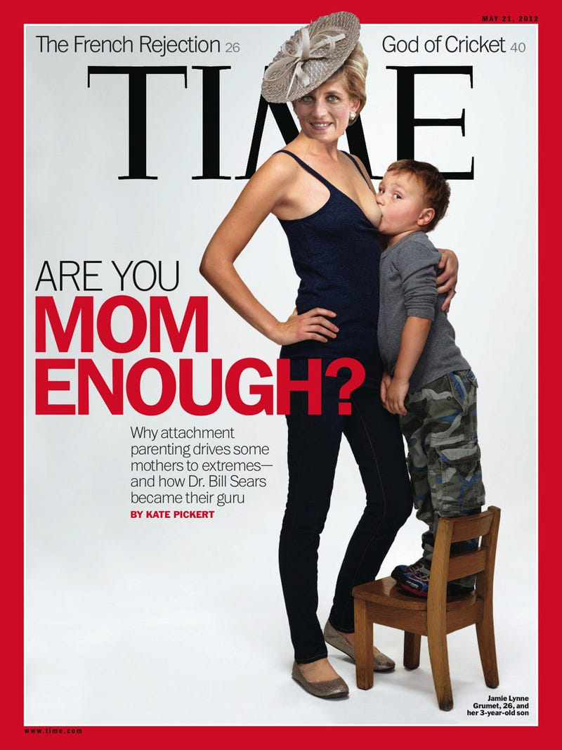 Mom Puts Boob in Preschooler's Mouth on Cover of Time