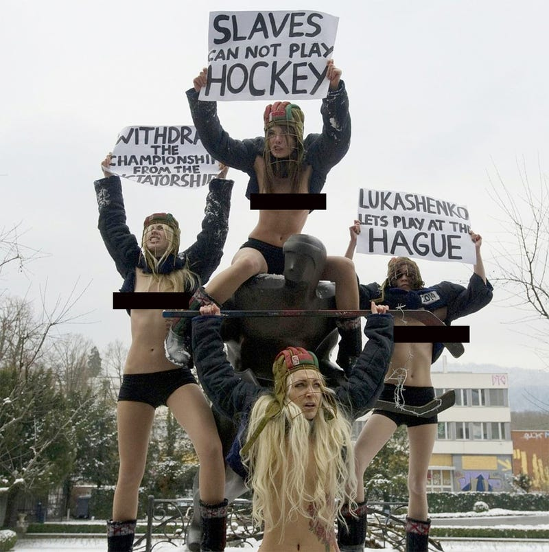 Look At, But Do Not Touch, These Topless Ukrainian Feminists