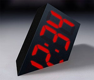 LED Clock Gives You That Timeless Sinking Feeling