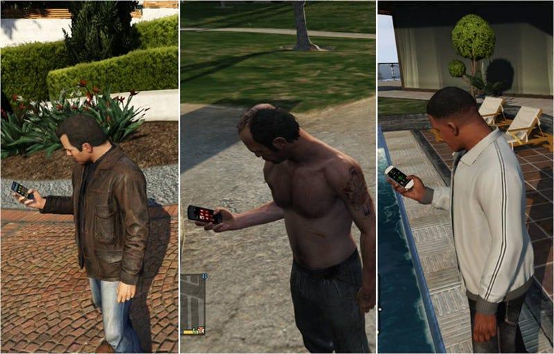 Hasta los móviles en GTA V son increíblemente detallados