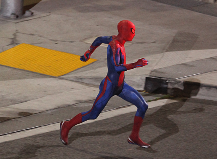 New Spider-Man movie photo catches the hero in his full suit, enjoying a Spider-prance