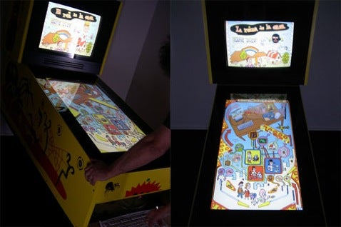 HDTV Pinball Machine is Art and Teaches Kids Stuff