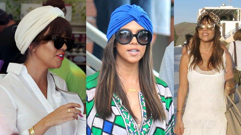 Kourtney Kardashian Is Single-Handedly Trying to Make Turbans Happen