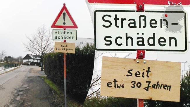 The German road network is kaputt