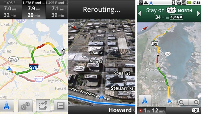 Google Maps Navigation Now Directs You Around Traffic