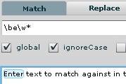 Test Regular Expressions Online with RegExr