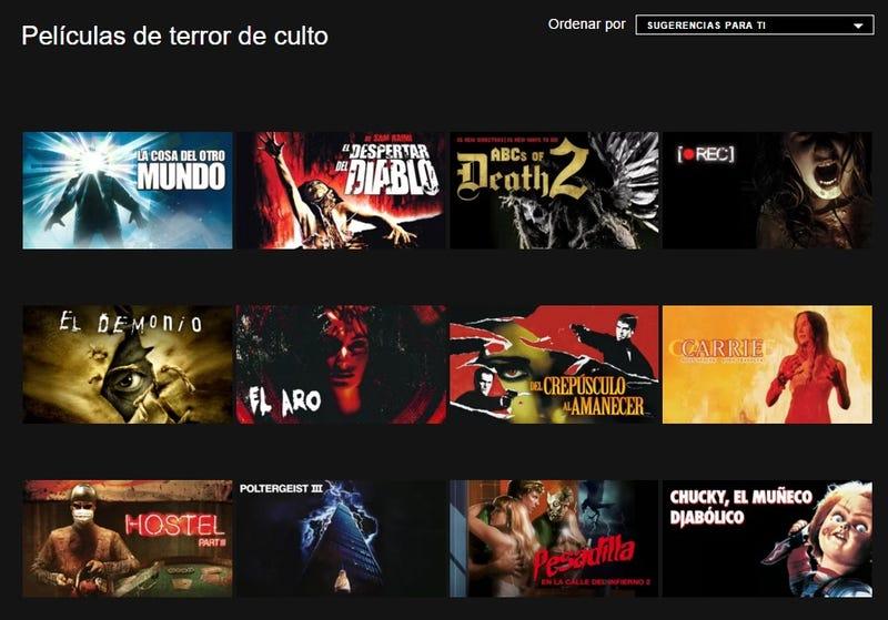 Descubre categorías secretas de películas (Netflix)