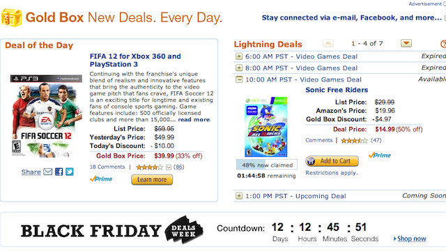 Alert! Video Games on the Cheap Today, Courtesy of Amazon's Gold Box Deals