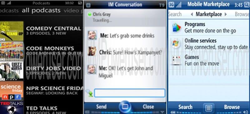 New Windows Mobile 7 Screenshots Show Zune Integration, Decent UI