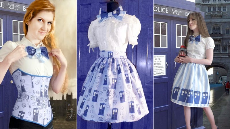 Doctor Who corsets and Lolita skirts set our double hearts aflutter
