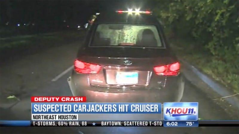 Suspected Carjackers Crash Into Deputy's Patrol Car