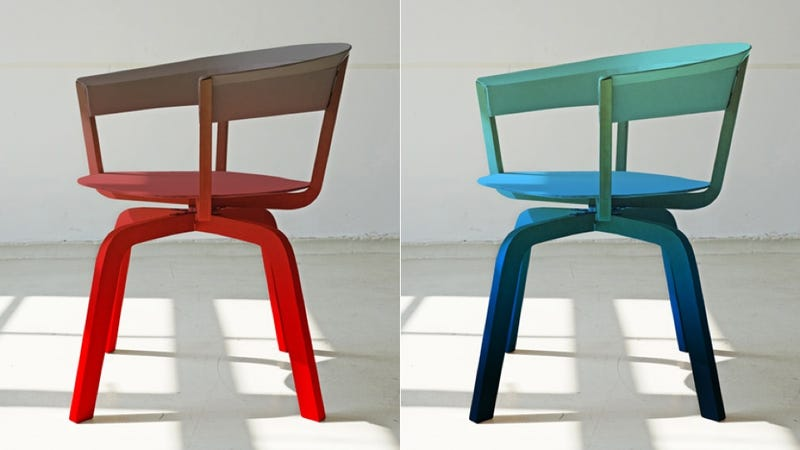 Color-Fading Ombre Chairs: Little Rainbows of Comfort